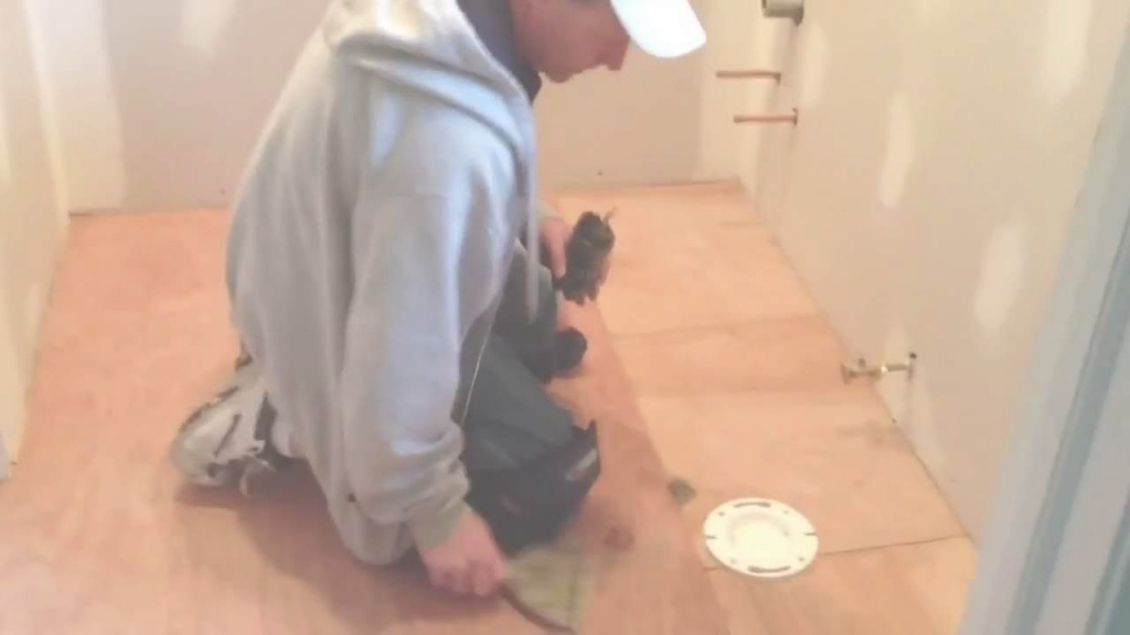 Fabulous How To Install Vinyl Flooring In A Bathroom - Youtube throughout Vinyl Flooring For Bathroom