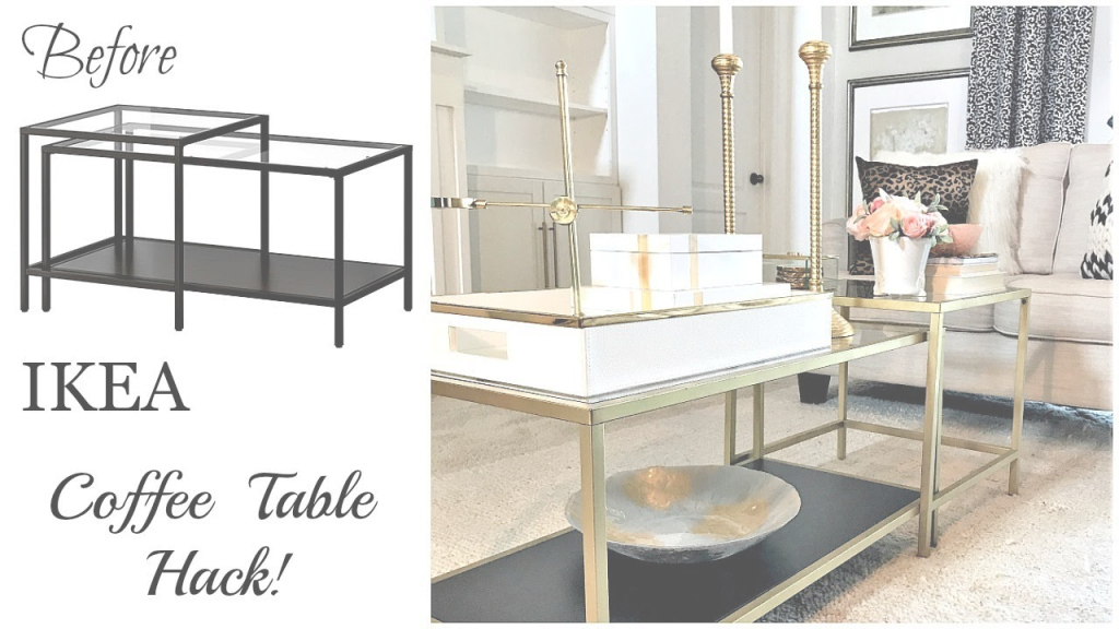 Fabulous Ikea Hack | $59 Vittsjo Coffee Table - Youtube in Ikea Coffee Table Hack
