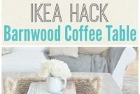 Fabulous Ikea Hacked Barnboard Coffee Table Tutorial – City Farmhouse regarding Set Ikea Coffee Table Hack
