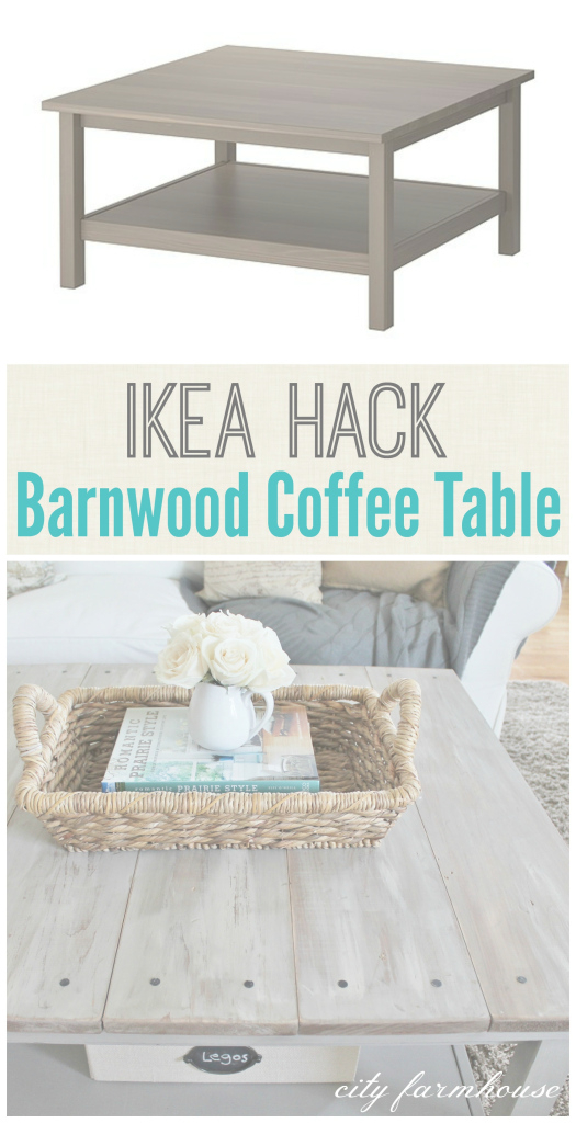 Fabulous Ikea Hacked Barnboard Coffee Table Tutorial - City Farmhouse regarding Set Ikea Coffee Table Hack