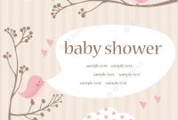 Fabulous Illustration Of Baby Girl Shower Card for Baby Shower Cards