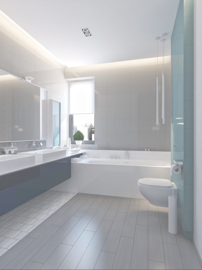 Fabulous Interior Design Blue Bathroom Modern – Provost Citywide in Blue Bathroom Interior Design