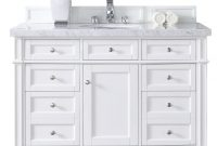 Fabulous James Martin Signature Vanities Brittany 48 In. W Single Vanity In throughout Lovely White Bathroom Vanity With Top