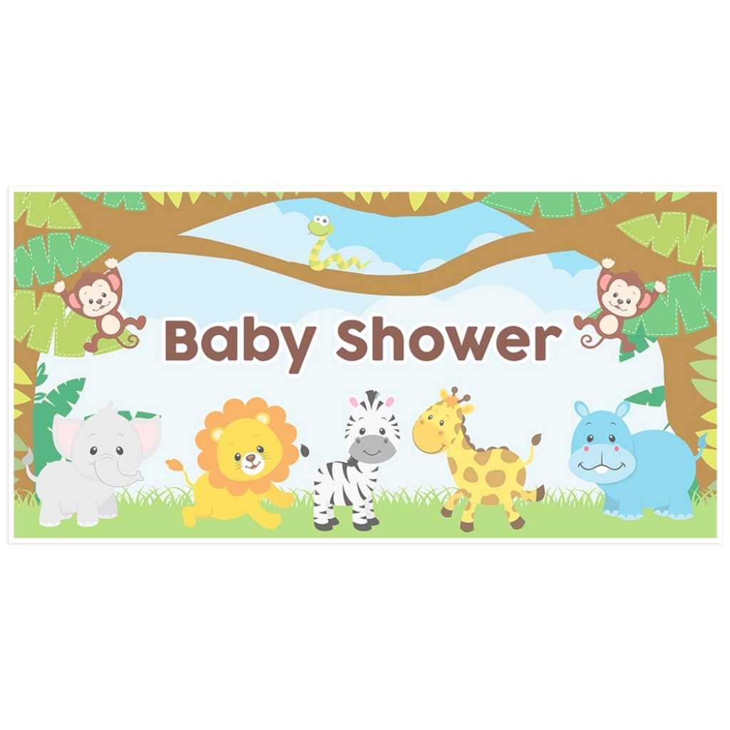 Fabulous Jungle Animals Ba Shower Banner Paper Blast Throughout Jungle Animal intended for Awesome Safari Animals Baby Shower