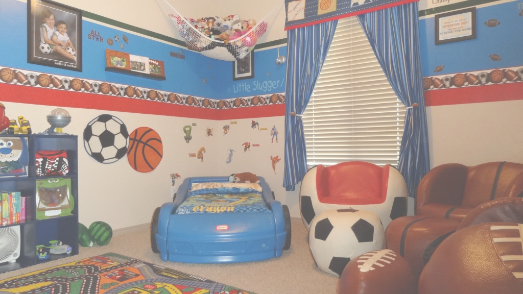 Fabulous Kids Room Decor: Awesome Pictures Sports Kids Room Sport Themed Room throughout Sports Themed Bedroom Decor