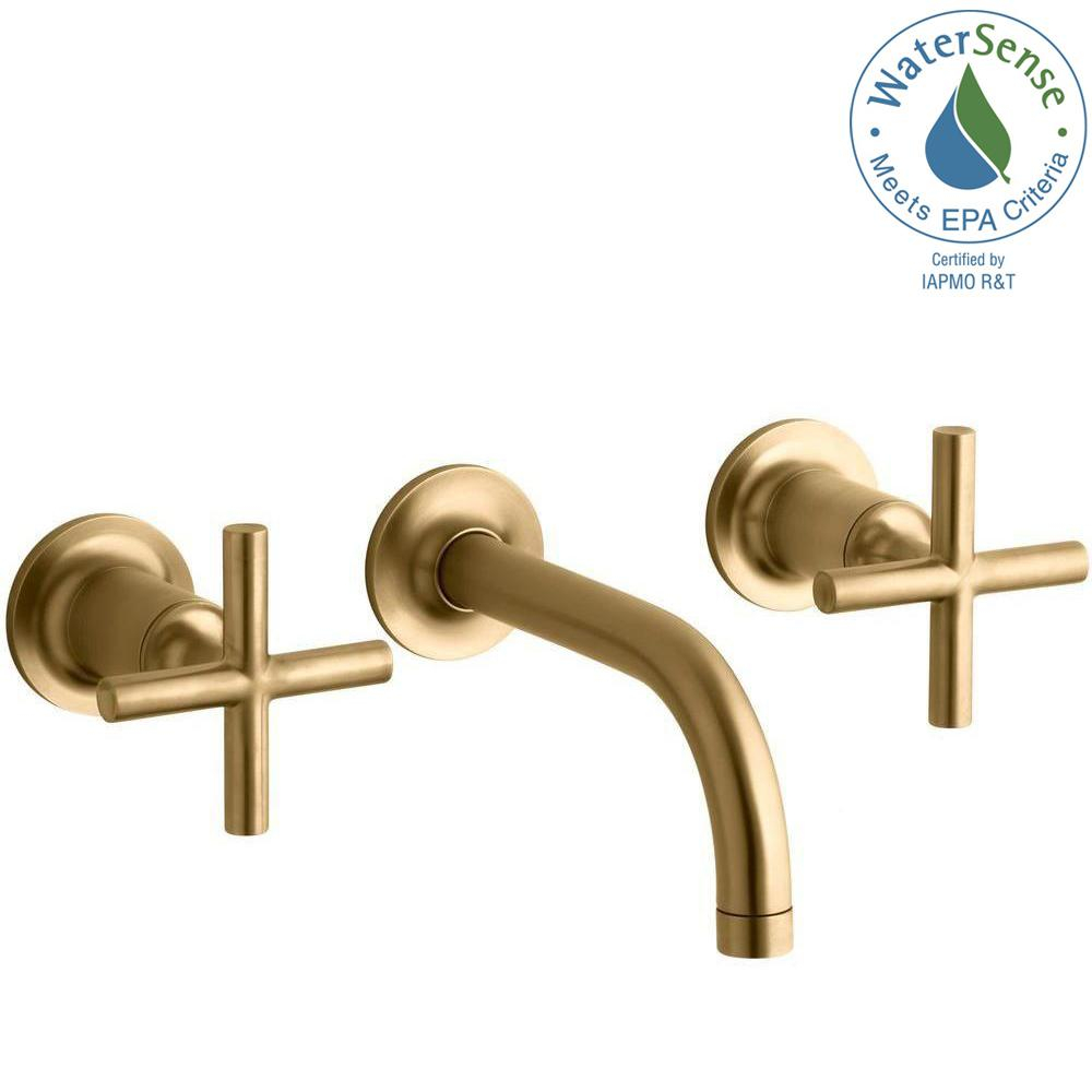 Fabulous Kohler Purist Wall-Mount 2-Handle Bathroom Faucet Trim Kit In with Gold Faucet Bathroom