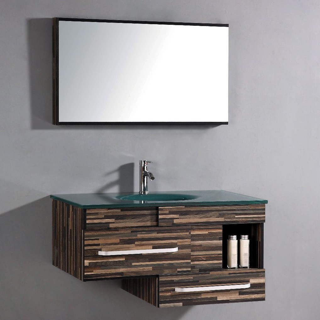 "Fabulous Legion Furniture 40"" Single Bathroom Vanity Set With Mirror throughout Awesome Bathroom Vanity Table"