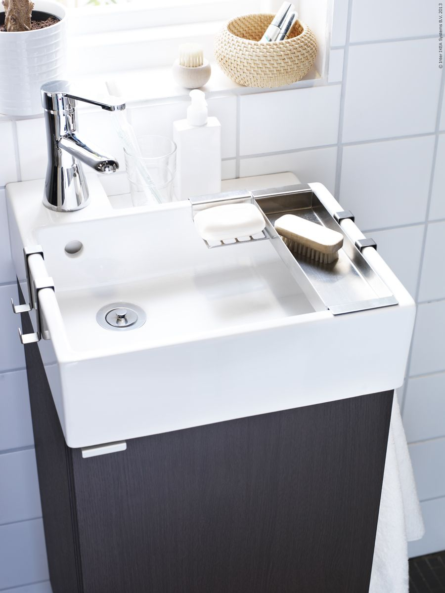 Fabulous Lillången Badrumsserie Passar Perfekt I Små Badrum. | Badrum intended for Small Sinks For Small Bathrooms
