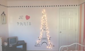 Fabulous Lit Eiffel Tower For My Daughter's Paris Themed Room! | Paris Themed inside Paris Themed Home Decor