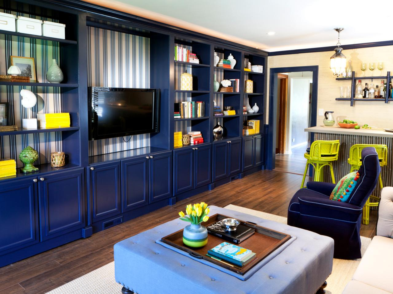 Fabulous Living Room Built-In Shelves | Hgtv intended for Unique Built In Cabinets Living Room
