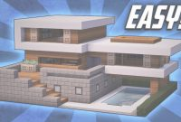 Fabulous Minecraft: How To Build A Large Modern House Tutorial (#19) – Youtube regarding Good quality Medium Modern House Minecraft Image