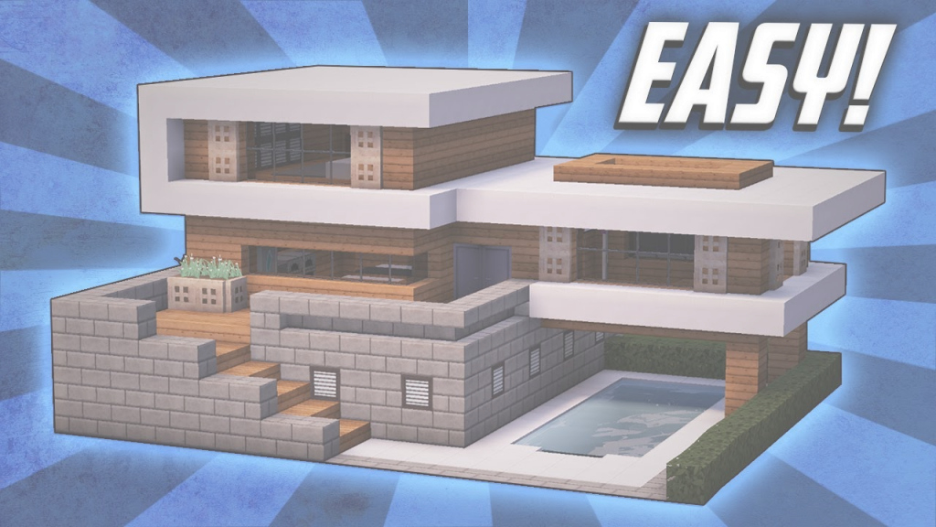 Fabulous Minecraft: How To Build A Large Modern House Tutorial (#19) - Youtube regarding Good quality Medium Modern House Minecraft Image