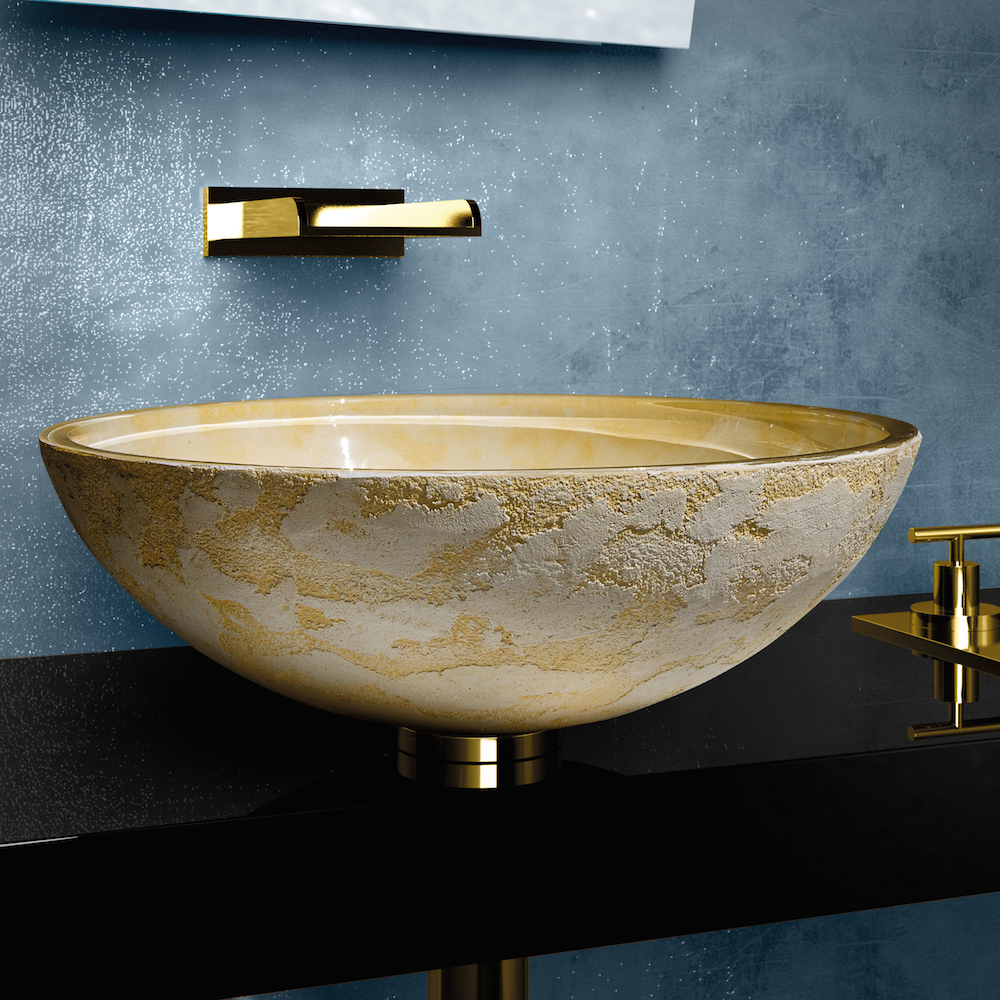 Fabulous Modern Dual Textured Bathroom Sink in New Designer Bathroom Sinks