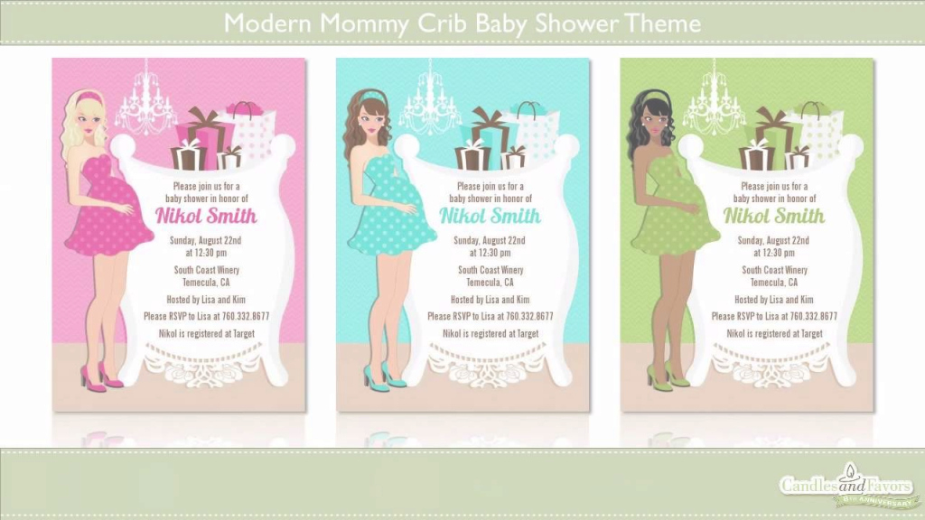 Fabulous Modern Mommy Crib Baby Shower Theme Showcase - Youtube with regard to Modern Baby Shower Themes