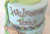 Fabulous Monkey Baby Shower Cake – Cakecentral regarding Baby Shower Monkey Cakes