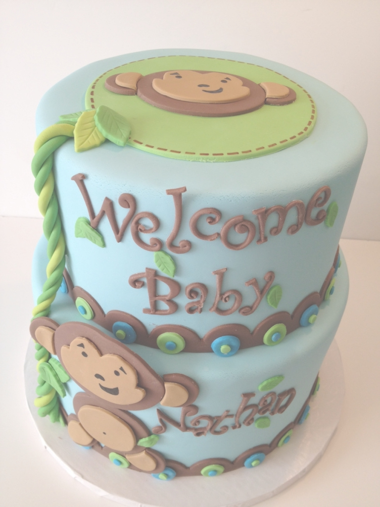 Fabulous Monkey Baby Shower Cake - Cakecentral regarding Baby Shower Monkey Cakes
