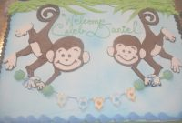 Fabulous Monkey Cake Ideas And Designs Cakepins | Cake | Pinterest | Baby intended for Baby Shower Monkey Cakes