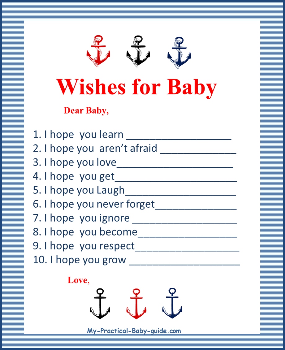 Fabulous Nautical Baby Shower Theme Ideas - My Practical Baby Shower Guide with Free Printable Baby Shower Games