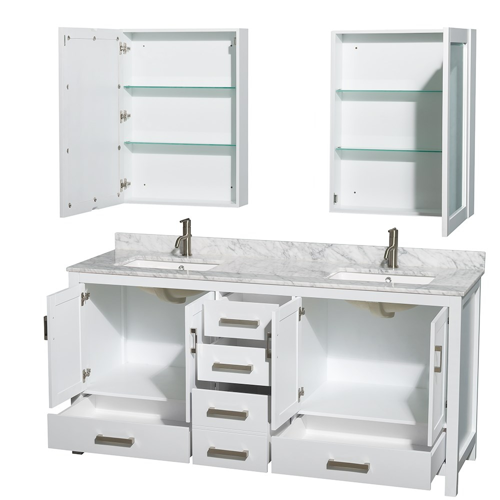 Fabulous New 72 Inch Bathroom Vanity Double Sink For Bathrooms Design inside Unique Bathroom Vanities Double Sink 72