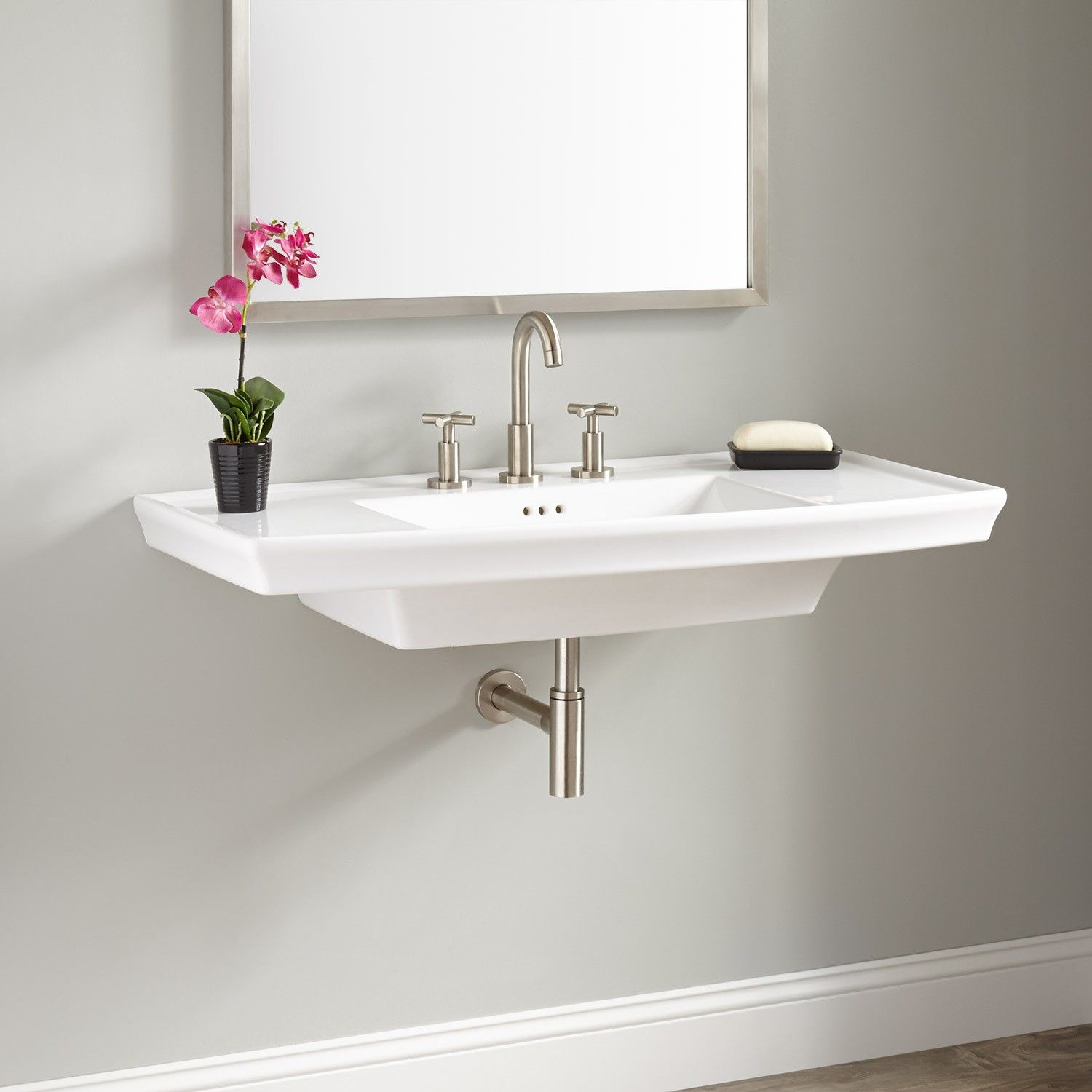 Fabulous Olney Porcelain Wall-Mount Sink | Pinterest | Wall Mounted Sink for Small Bathroom Sinks Wall Mount