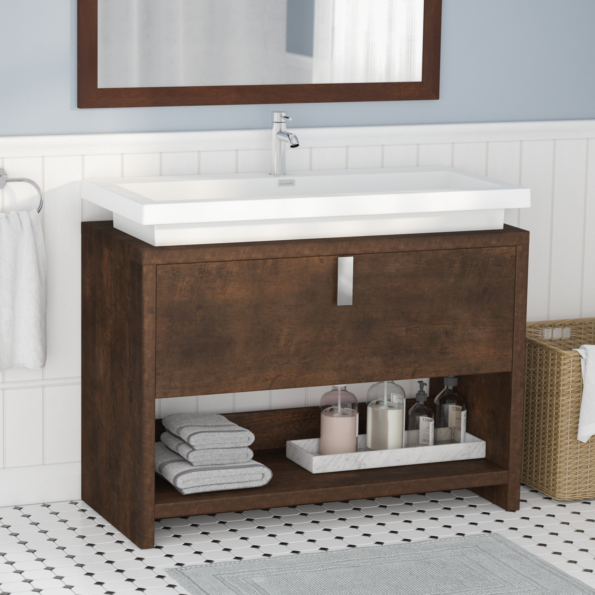 "Fabulous Orren Ellis Gaynelle 40"" Single Bathroom Vanity Set 