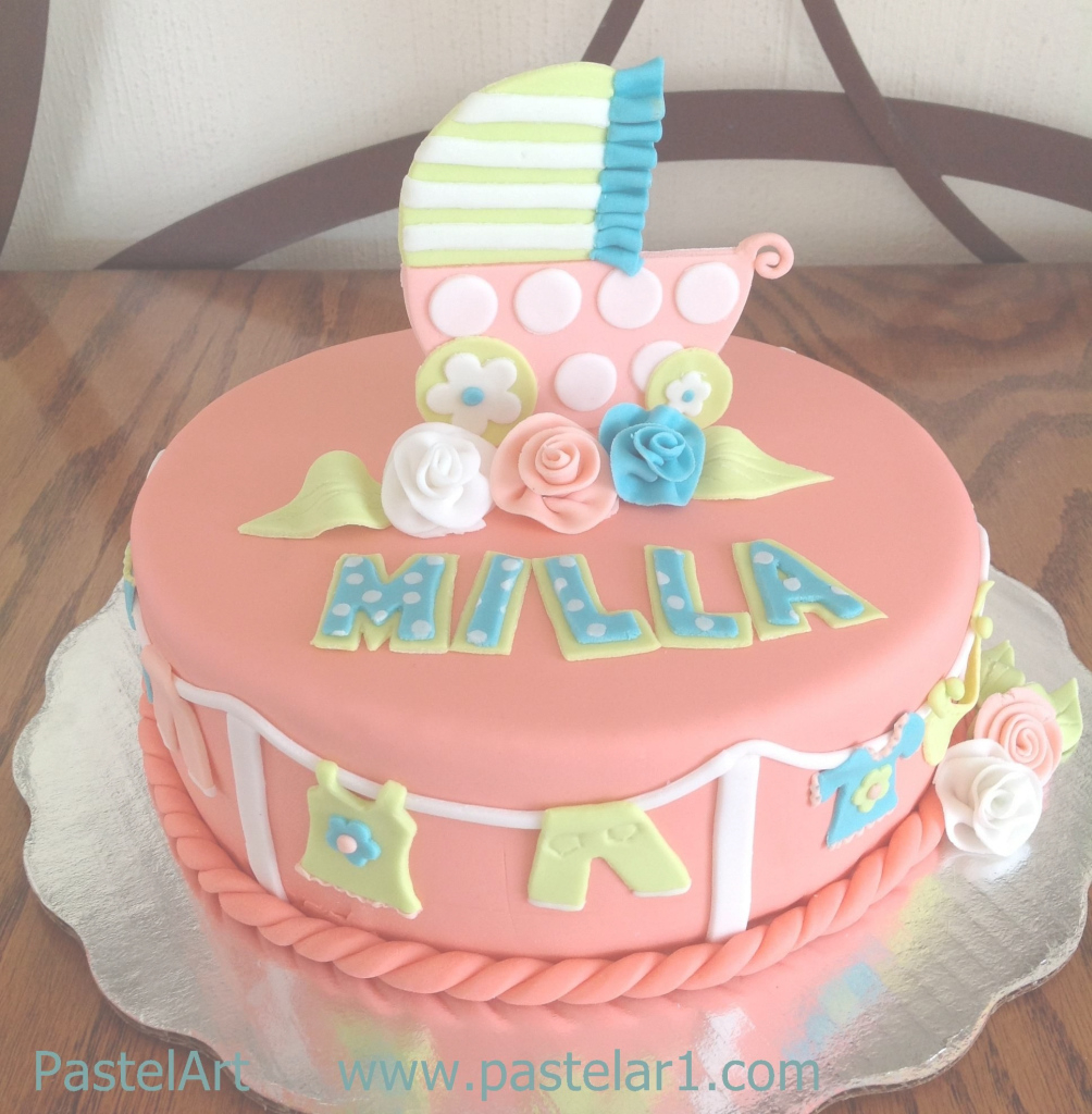 Fabulous Pastel De Baby Shower, Disponible Desde 20 Personas, También Diseño inside Fresh Pasteles Para Baby Shower Niña