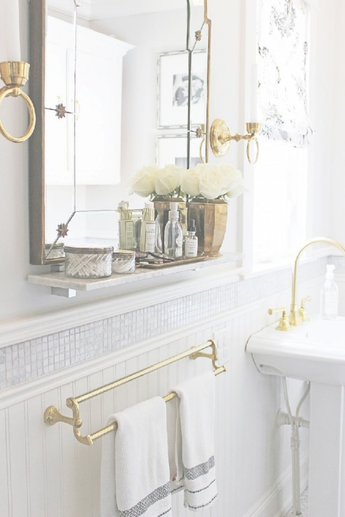 Fabulous Photos: Antique Bath Mirrors, - Longfabu intended for Inspirational Gold Bathroom Mirror