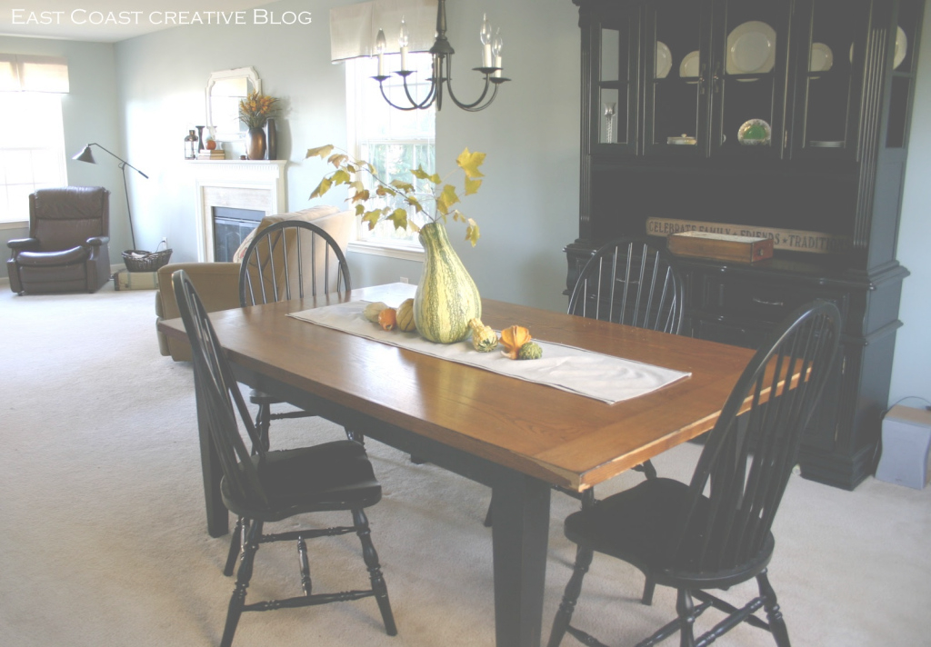Fabulous Refinished Dining Room Table {Furniture Makeover} - East Coast throughout High Quality How To Refinish A Dining Room Table