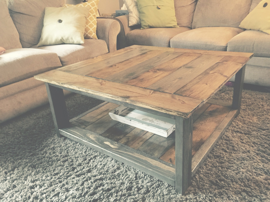 Fabulous Rustic-X Coffee Table. Ana White Plans. Minwax Dark Walnut And with regard to Pallet Coffee Table Plans