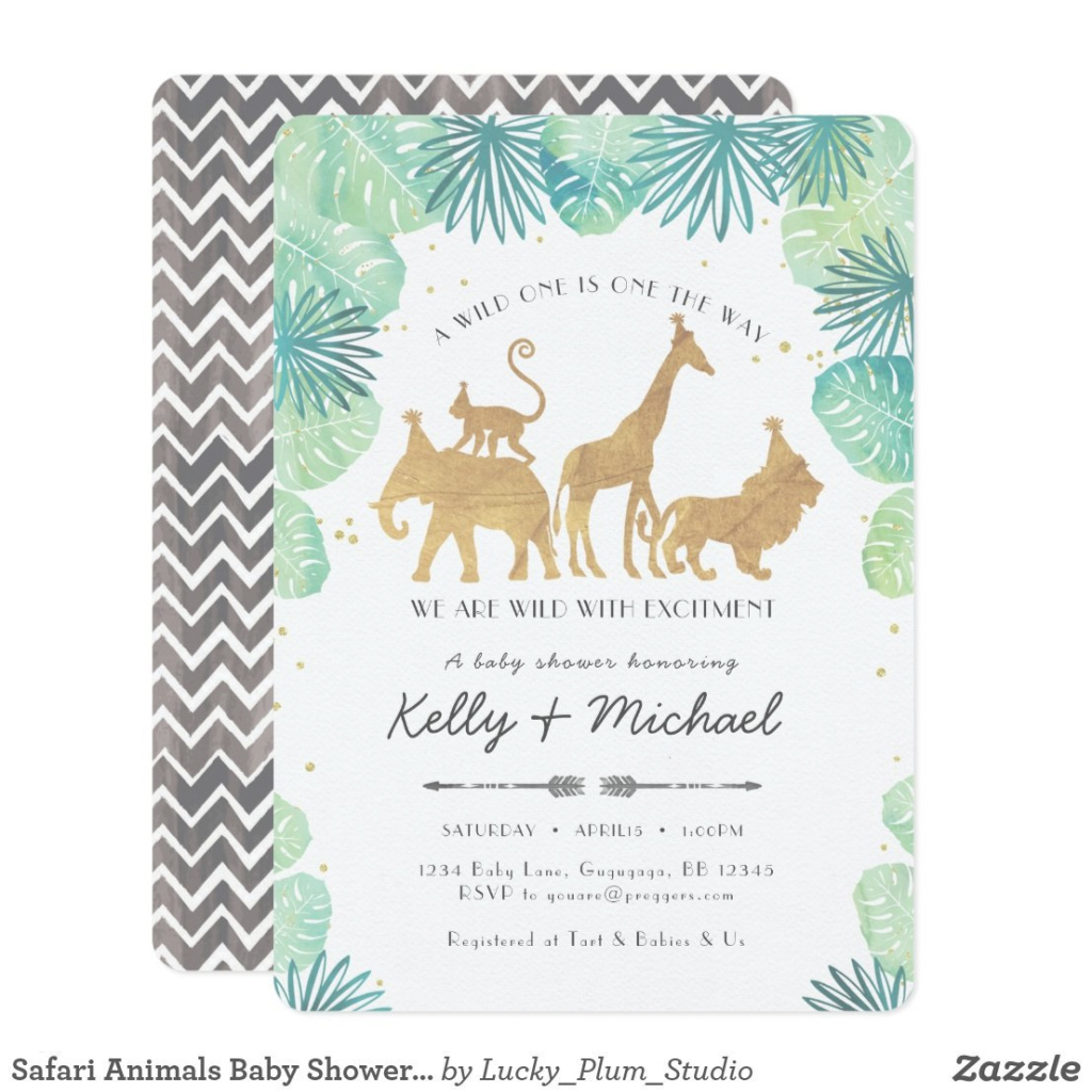 Fabulous Safari Baby Shower Invitations Template Awesome Safari Animals Baby for Safari Animals Baby Shower