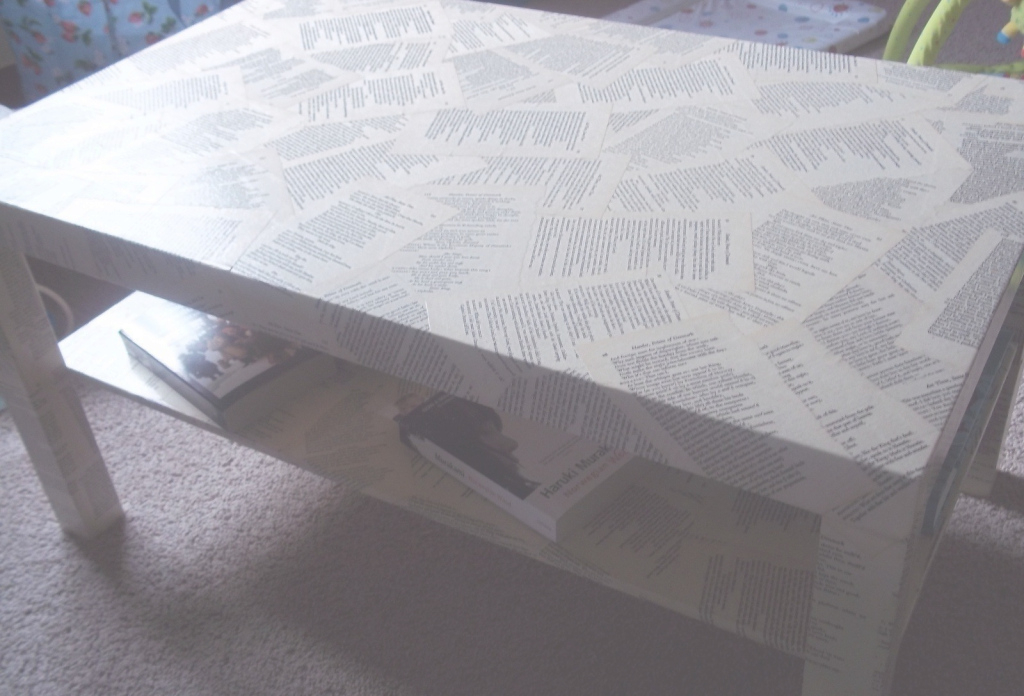 Fabulous Shakespeare Decoupage Coffee Table · How To Make A Table · Decoupage within Review Decoupage Coffee Table