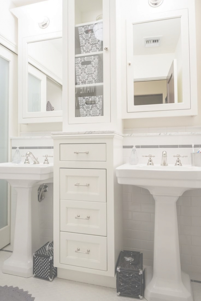 Fabulous Shocking Bathroom Pedestal Sink Storage Cabinet With Picture Image within Bathroom Pedestal Sink Storage Cabinet