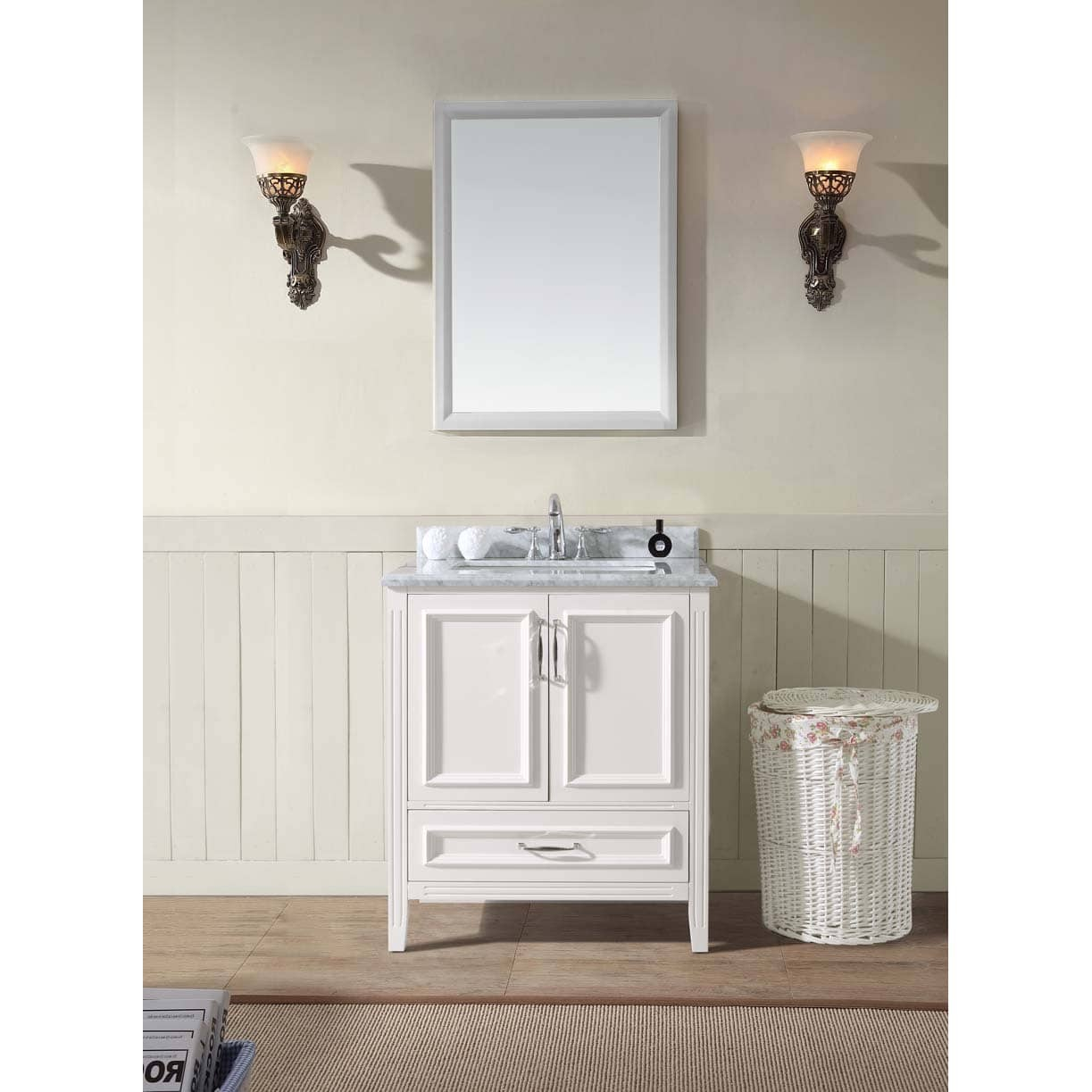 "Fabulous Shop Jude 30"" Single Bathroom Vanity Set - White - Free Shipping pertaining to Awesome Bathroom Vanity Table"