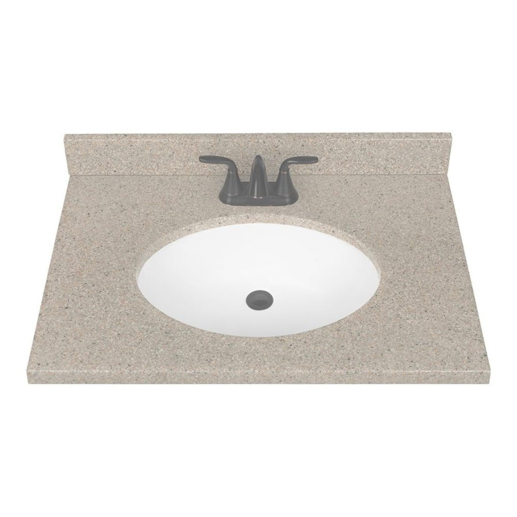 Fabulous Shop Nutmeg Solid Surface Integral Bathroom Vanity Top (Common: 31 with Bathroom Vanity Tops With Sink