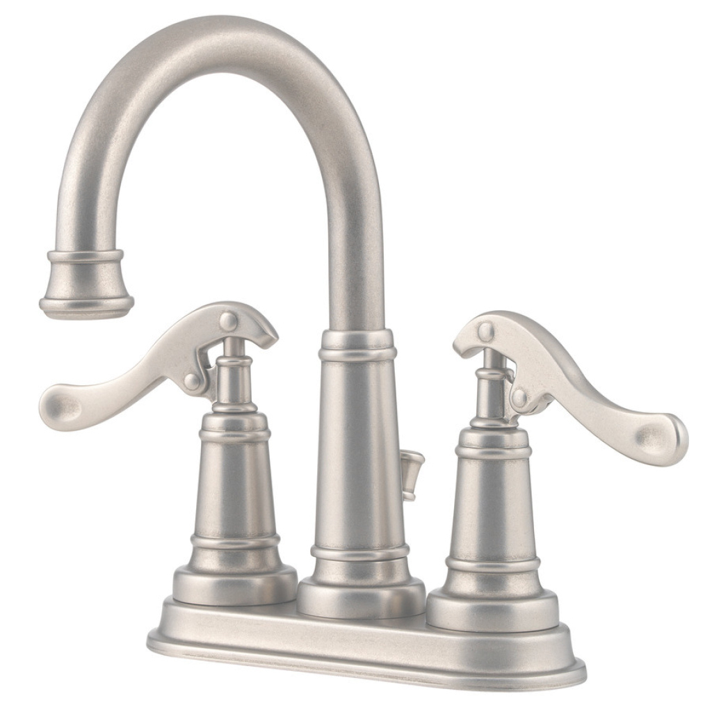 Fabulous Shop Pfister Ashfield Rustic Pewter 2-Handle 4-In Centerset Bathroom within Inspirational Pewter Bathroom Faucet
