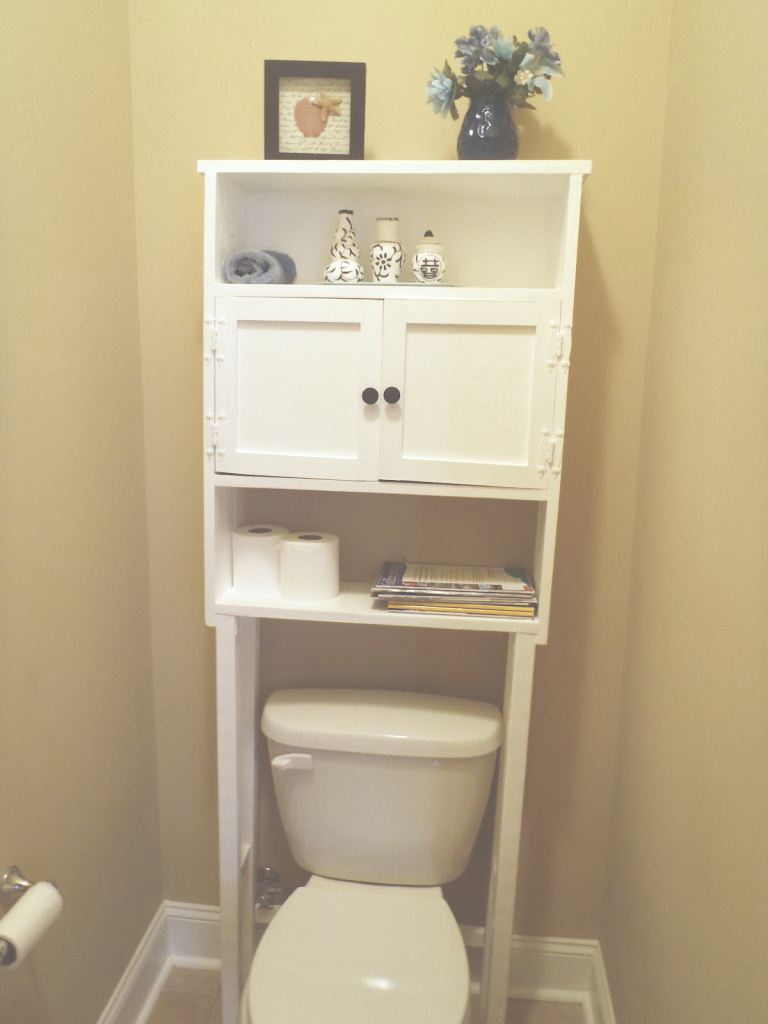 Fabulous Simple Bathroom Space Saver Over Toilet White With 2 Shelves For throughout Unique Bathroom Space Saver Ideas