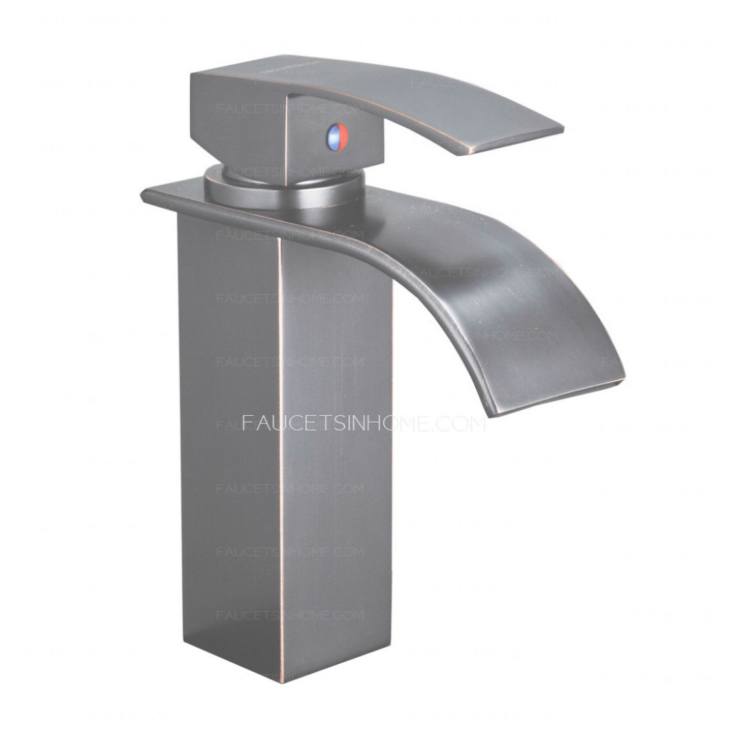 Fabulous Single Lever Waterfall Matte Black Bathroom Sink Faucet Mixer Tap intended for Black Bathroom Sink Faucet