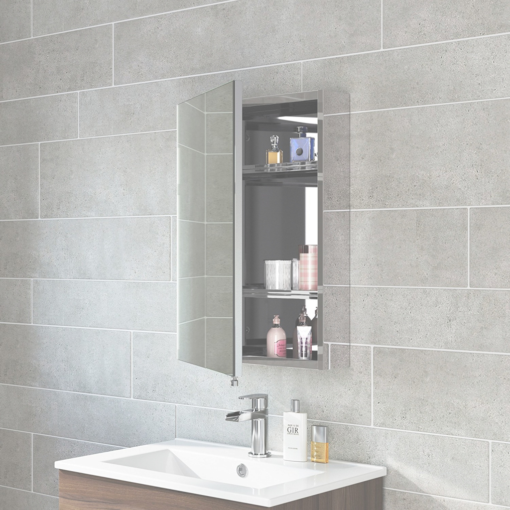 Fabulous Stainless Steel Bathroom Mirror Cabinet : Top Bathroom - The throughout Luxury Bathroom Mirror With Cabinet