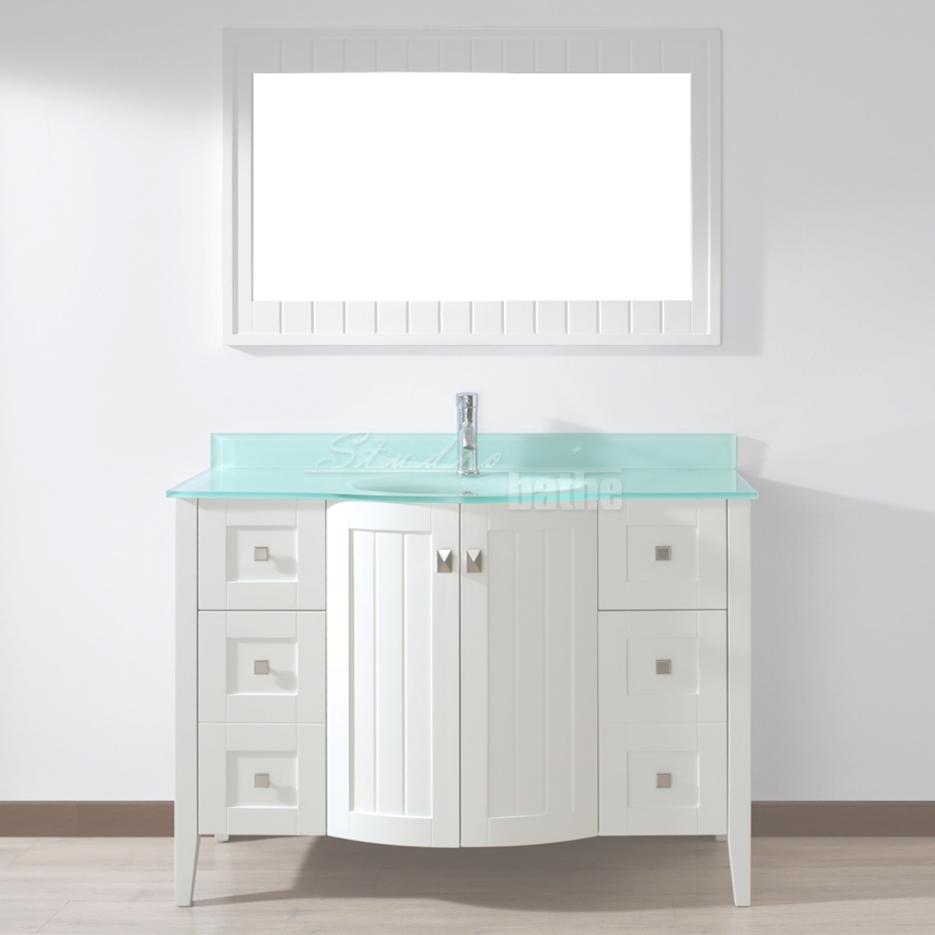 Fabulous Studio Bathe Bridgeport 48 Inch White Bathroom Vanity Mint Green in 48 Inch Bathroom Vanity With Top