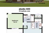 Fabulous Studio600: Small House Plan | Pinterest | Small House Plans inside One Bedroom House Plans With Photos