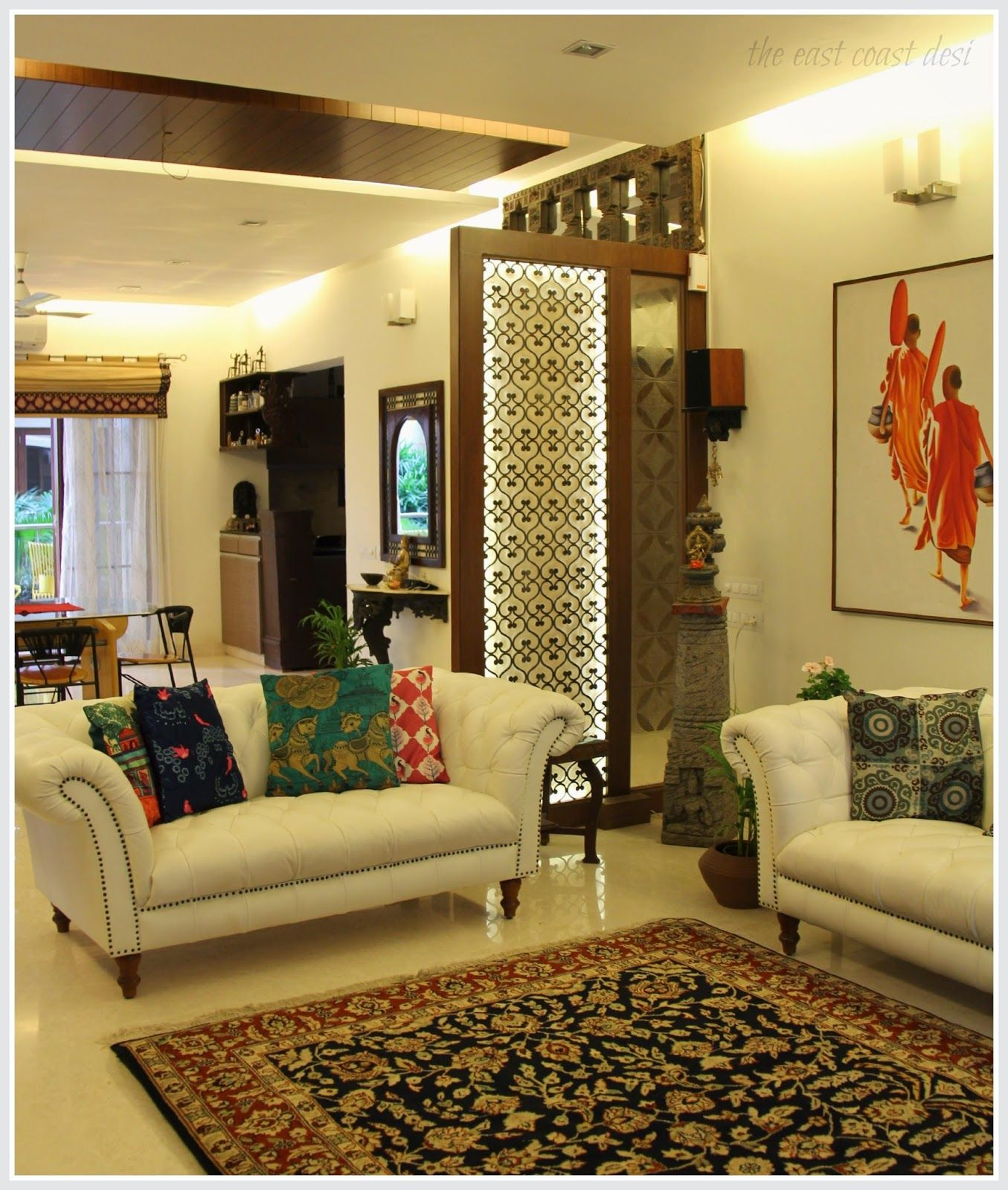 Fabulous The East Coast Desi: Masterful Mixing (Home Tour) | Decor~Home Tour throughout Indian Home Decor Ideas Living Room