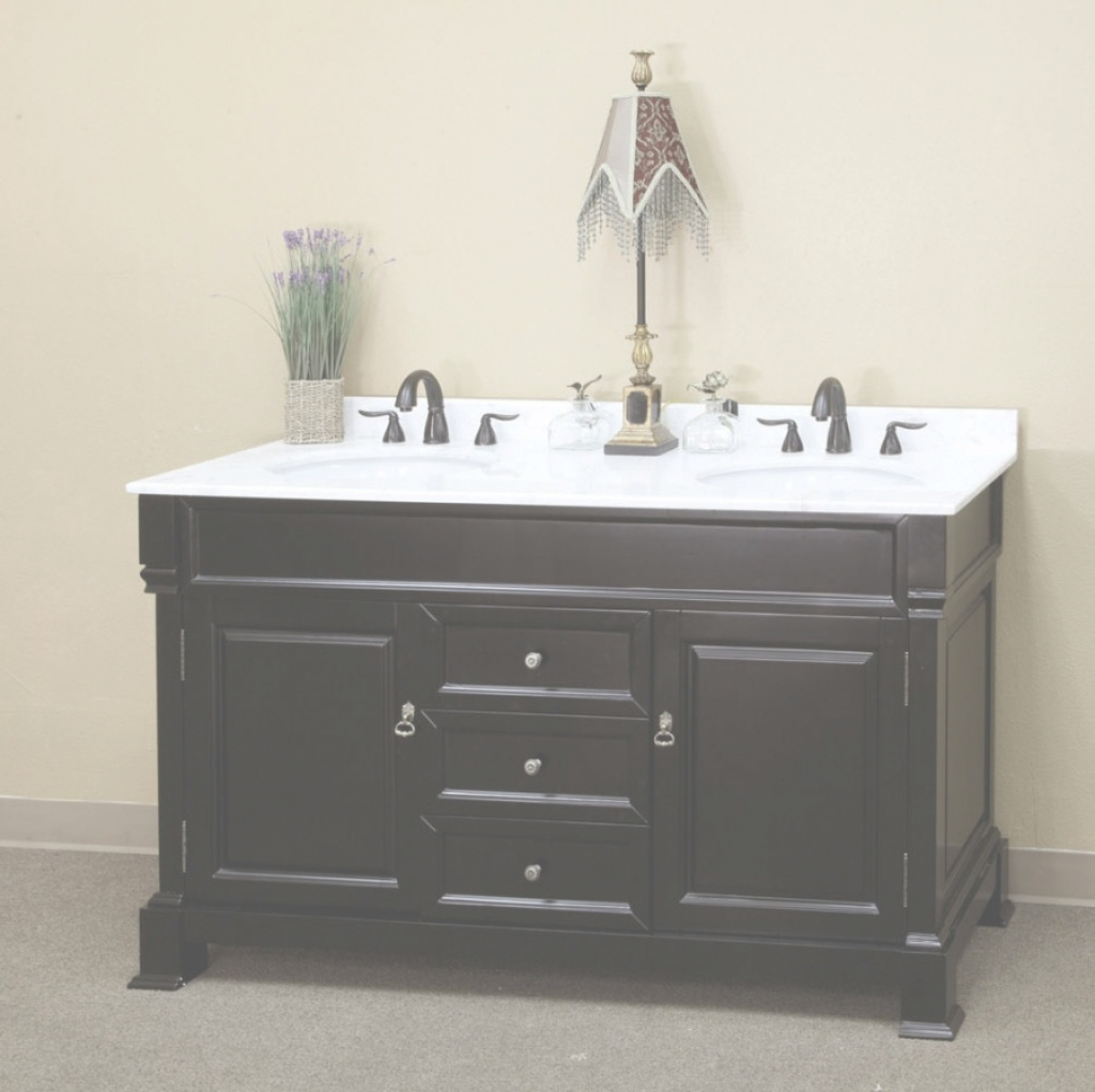 Fabulous The Truth About 54 Inch Bathroom Vanity Double Sink Top White Home inside 54 Bathroom Vanity