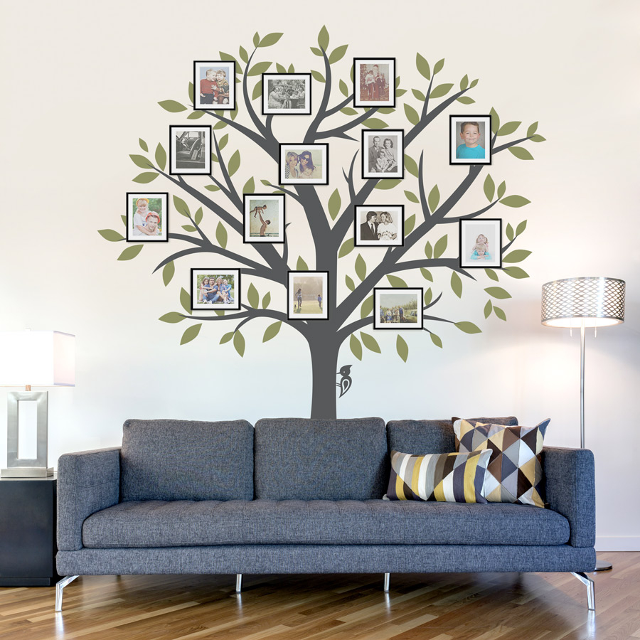 Fabulous Tree Wall Art Decals Ideas : Andrews Living Arts - Tree Wall Art regarding Unique Tree Wall Decals For Living Room