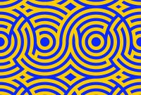 Fabulous Two-Color Spiral Patterns Seamless Pattern Vector Image regarding Color Pattern Design