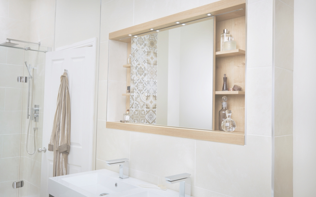 Fabulous Utopia 1200Mm Sliding Mirror Cabinet with regard to Luxury Bathroom Mirror With Cabinet