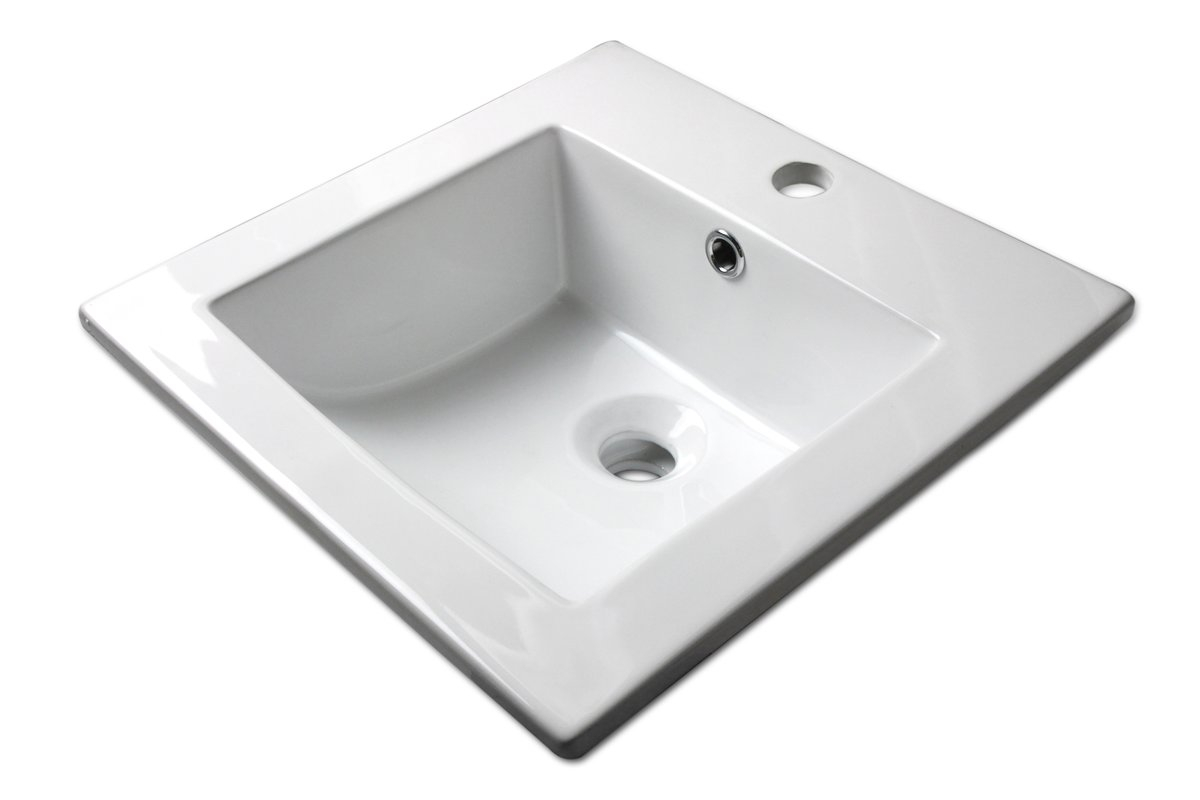 "Fabulous Ventamatic Sauberzen Vitreous 16"" Single Bathroom Vanity Top for Set Bathroom Vanity With Top"