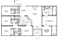 Fabulous View The Hacienda Iii Floor Plan For A 3012 Sq Ft Palm Harbor intended for Inspirational 3 4 Bathroom Floor Plans