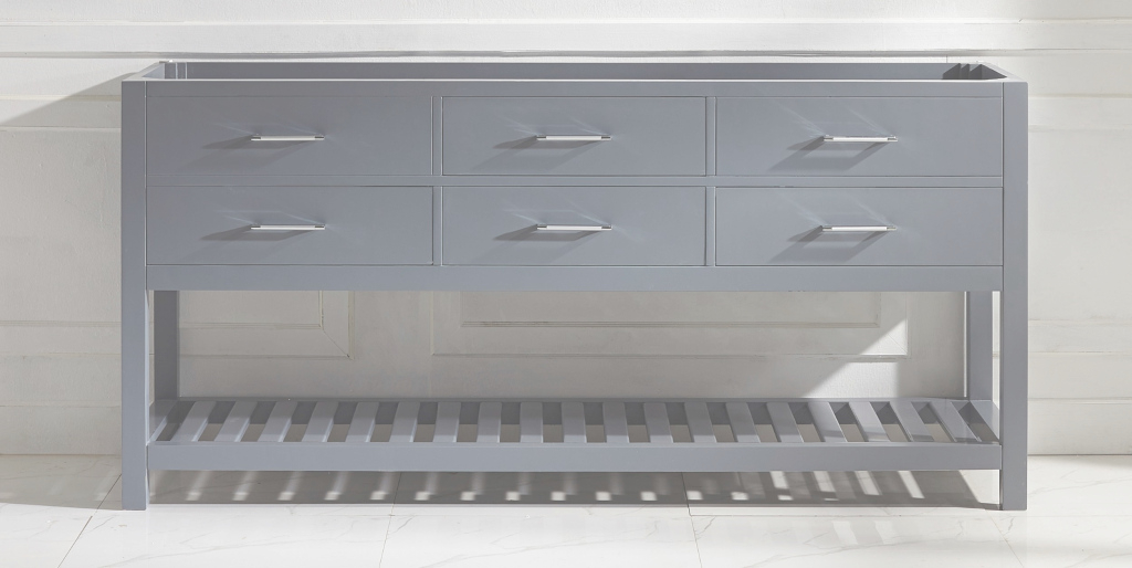 Fabulous Virtu Usa Caroline Estate 72 Bathroom Vanity Cabinet In Grey inside Lovely 72 Bathroom Vanities