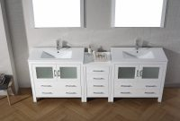 Fabulous Virtu Usa Dior 90 Double Bathroom Vanity Set In White | Bathtubs Plus intended for Bathroom Vanity Table