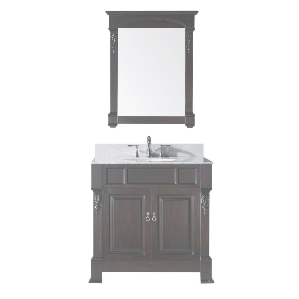 Fabulous Virtu Usa Huntshire 36 In. W X 22.05 In. D X 33.86 In. H Dark Walnut pertaining to Awesome Affordable Bathroom Vanities